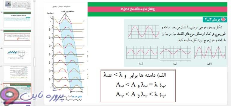 پاورپوینت فصل سوم فیزیک دوازدهم ریاضی و تجربی